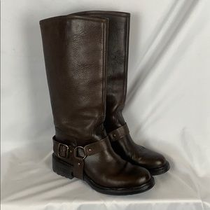 Boemos ITALY brown leather knee high boots 6